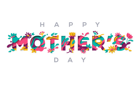 Illustration for Happy Mothers day greeting card - Royalty Free Image