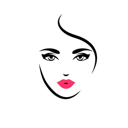 Illustration pour Woman with red lips - image libre de droit