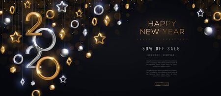 Ilustración de 2020 New Year baubles - Imagen libre de derechos