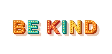 Vektor für Be kind motivational poster - Lizenzfreies Bild