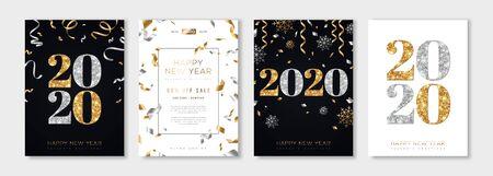 Illustration pour 2020 New Year set - image libre de droit