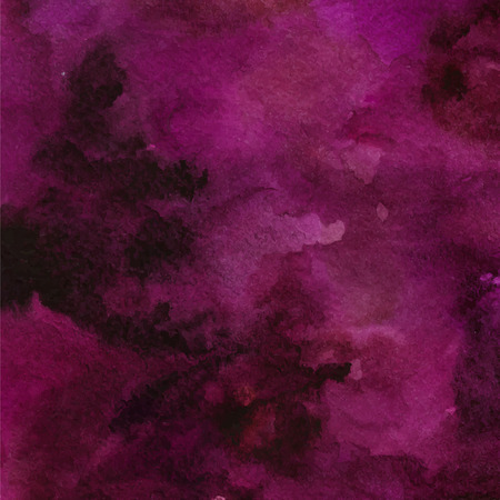 Abstract purple vector watercolor texture with swashes