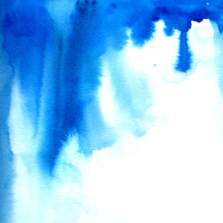 Blue watercolor paint flow.