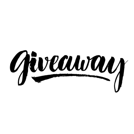 Giveaway banner for social media contests and special offer  Vector