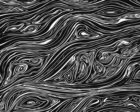 Illustration pour Line background. Vector texture with hand drawn ink wavy strokes. Monochrome backdrop - image libre de droit