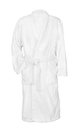 white bathrobe bathrobe. isolated on white background