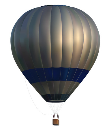realistic hot air balloon on white background