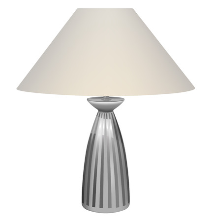 vector table lamp on white background