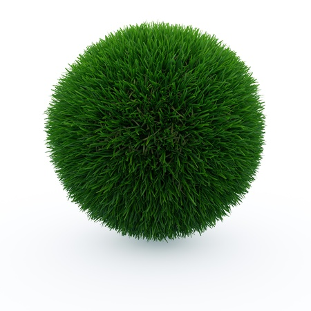 Grass Ball isoleted on white