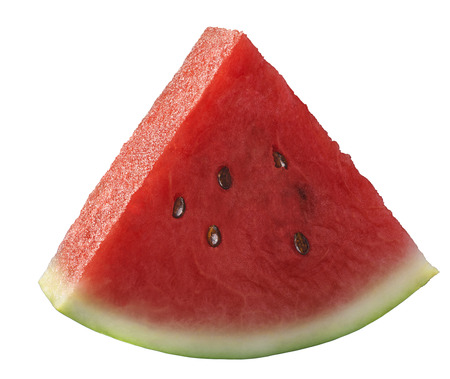 Single watermelon piece isolated on white background as package design element