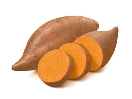 Photo pour Sweet potato or yams isolated on white background. - image libre de droit