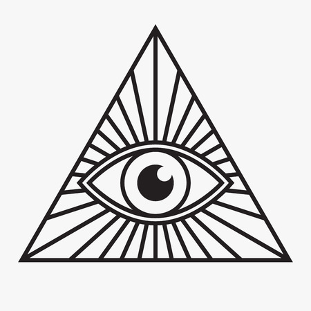 Ilustración de All seeing eye symbol, vector illustration - Imagen libre de derechos