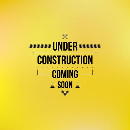 Ilustración de Under construction sign, typographic design - Imagen libre de derechos