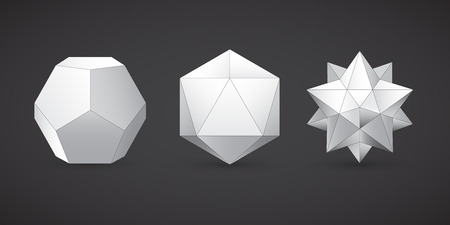 Geometric shapes, dodecahedron, vector
