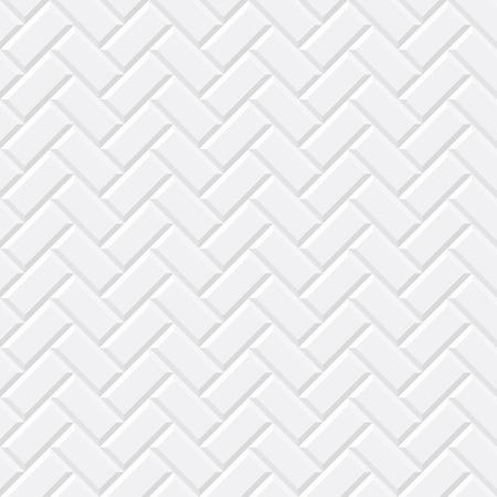 Illustration pour White tiles, ceramic brick. Diagonal seamless pattern. Vector illustration EPS 10 - image libre de droit