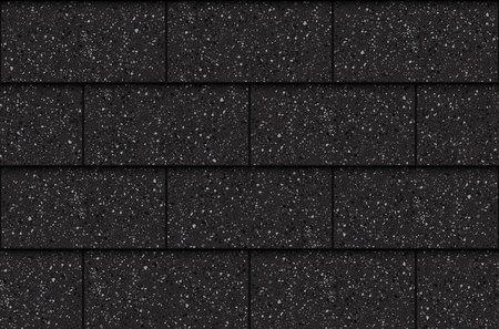 Illustration for Asphalt roof shingles, seamless pattern, rectangles, vector illustration - Royalty Free Image