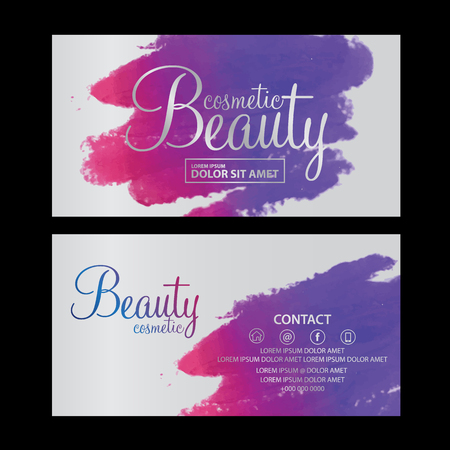 Illustration for beauty cosmetics card vector - Royalty Free Image