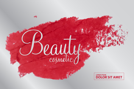 Illustration for beauty cosmetics vector - Royalty Free Image
