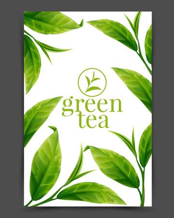 Ilustración de Green tea leaf - Imagen libre de derechos