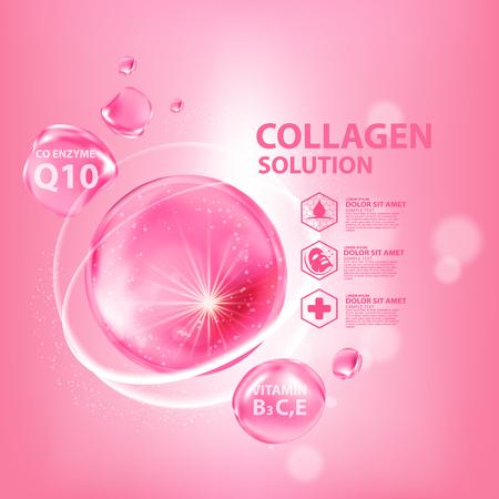 Illustration pour Collagen Serum Skin Care Cosmetic - image libre de droit