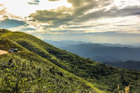 Landscape on hilltop,Nern Chang Suek,Kanchanaburi,Thailand