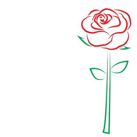 Ilustración de valentine s day template greeting card. Flowers rose. Valentines day card. : vector Eps 10 - Imagen libre de derechos