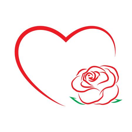 Ilustración de valentine s day template greeting card. Flowers and heart . Valentines day card. : vector Eps 10 - Imagen libre de derechos