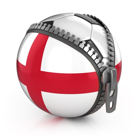 England football nation - football in the unzipped bag with England flag print