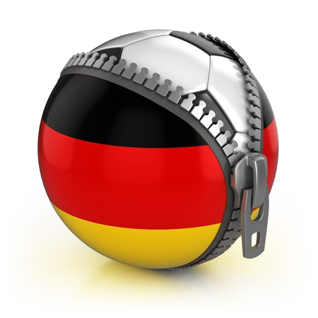 Germany football nation - football in the unzipped bag with German flag print