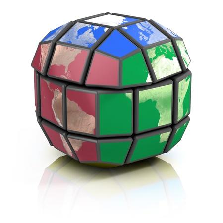 global politics, globalization 3d concept