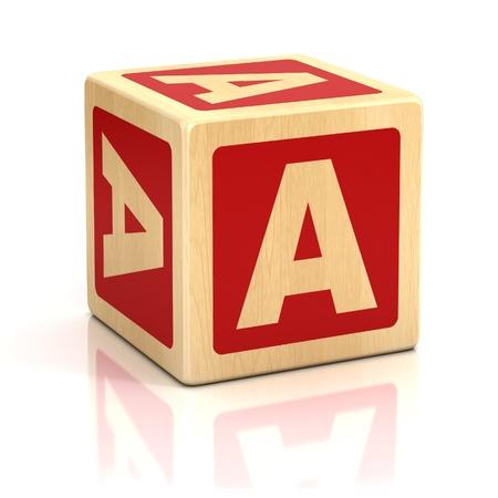Photo pour letter a alphabet cubes font - image libre de droit