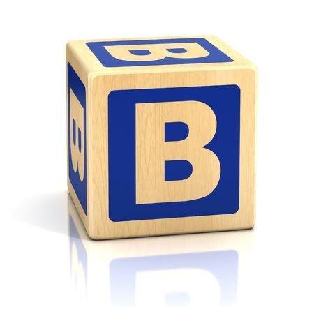 letter b alphabet cubes font