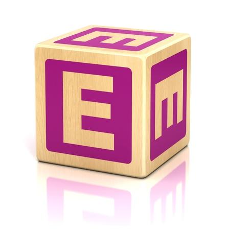 letter e alphabet cubes font