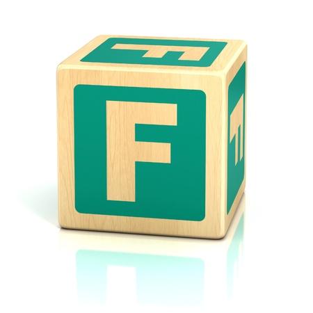 letter f alphabet cubes font