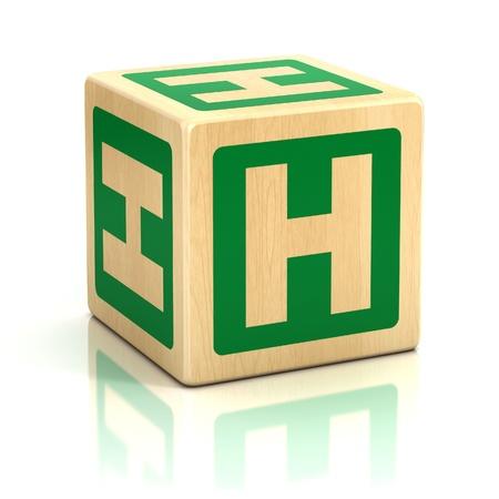 letter h alphabet cubes font