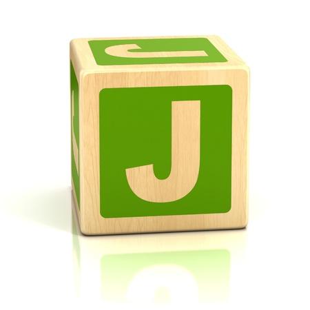 letter j alphabet cubes font