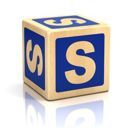 letter s alphabet cubes font