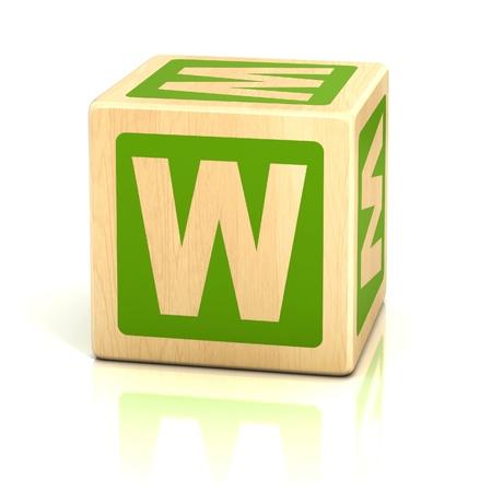 letter w alphabet cubes font