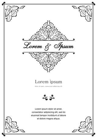 Illustration for Floral pattern for invitation or greeting card - Royalty Free Image