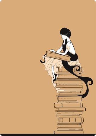 Illustration for Reader - Royalty Free Image