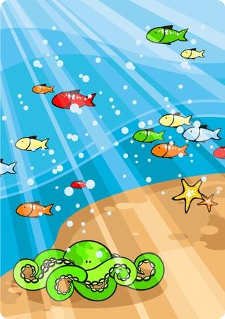 Beautiful sea life