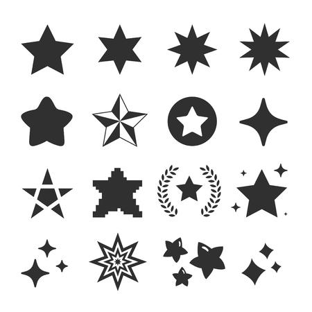 Photo pour set of star icon vector - image libre de droit