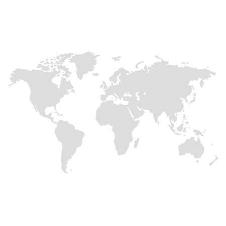 Illustration for world map illustration vector - Royalty Free Image