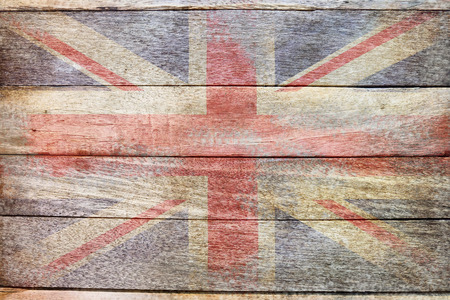 england flag old school wood texture background