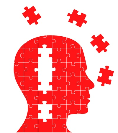 Missing piece puzzle head vector