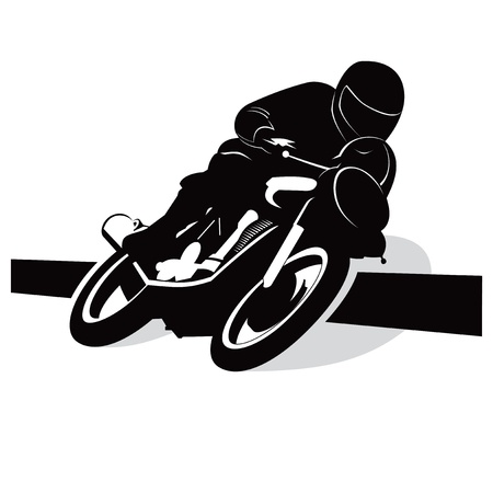 Street motorcycle vector background with driver concept
