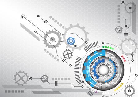 Illustration pour abstract futuristic circuit high computer technology business background - image libre de droit