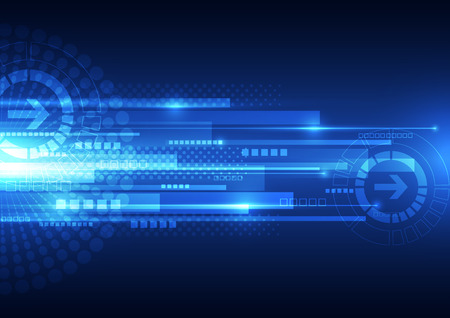 Foto de vector digital speed technology, abstract background - Imagen libre de derechos