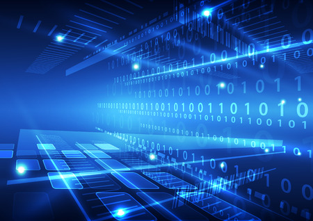 abstract vector future technology data background illustration