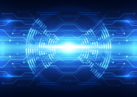 abstract vector digital future technology background illustration